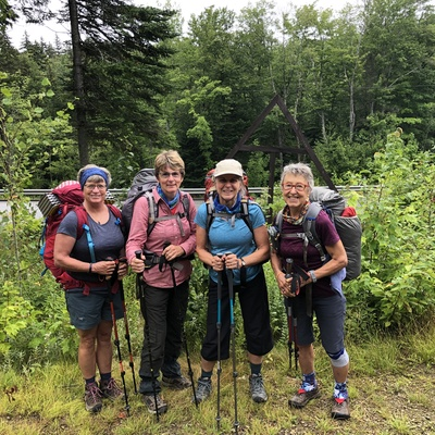 Four Girls from Nova Scotia section hiking the Appalachian Trail