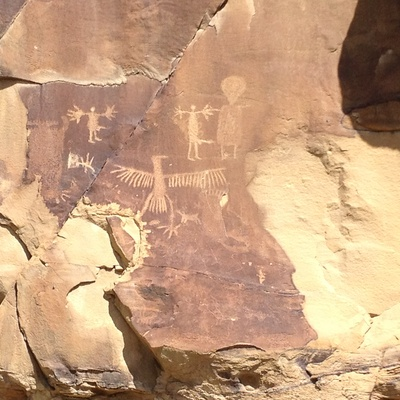 The Pictographs at Legend Rock