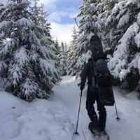 First Backcountry Ski - Saint Donat, Quebec